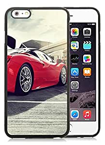 CMS Unique and Attractive iPhone 6 plus 5.5 inch TPU Cases Design with Ferrari 458 Italia GT3 in Black