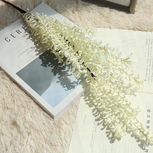 Inverlee 1Pcs Artificial Flowers Grass Floral Fake Flowers Wedding Bridal Bouquet DIY Home Garden Decor (White)