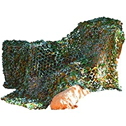 Kangaroo's Army Safari Camouflage Netting- 8' x 6' Green Camo Netting