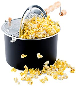 Franklin's Whirley Pop Stovetop Popcorn Popper – Great for every popcorn lover