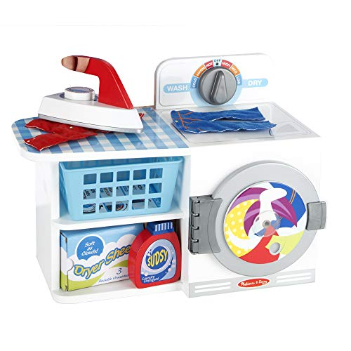 Melissa & Doug Wash, Dry and Iron Play Set - Pretend Play Laundry Cleaning Set ()