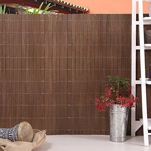 Super WPC Zaun/ Sichtschutzmatte, Sichtschutzzaun 1x2,50 m langer. Farbe  YZ04