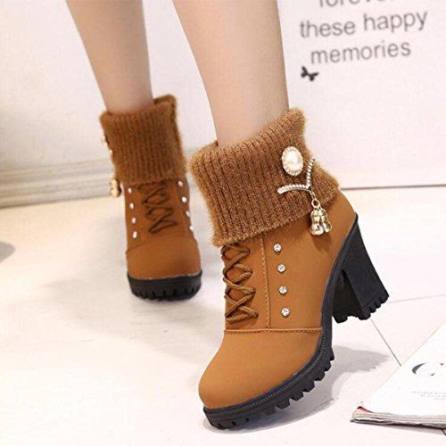 el del Martin redonda de Las botas diamante de de botas de corta una las la las brown patean patea cabeza las las con hilo lanas manera mujeres de mujeres 551cWr70