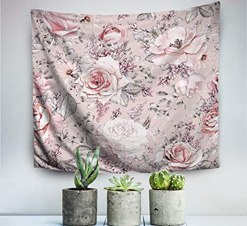 King Tapestry Wall Hanging,Floral,Tapestry,Shorping 60x50 Inch Wall Art Tapestry for Home Decoration floral pattern vintage tropical sketch abstract background backdrop backdrop design background beau ()