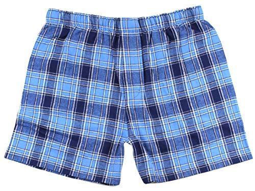 Blue Flannel Boxer - boxercraft Men's Cotton Flannel Plaid Boxer Sleep Shorts, Medium, Columbia Blue