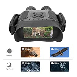 """Bestguarder Night Vision Binoculars, 4.5-22.5×40 HD Digital Infrared Hunting Scope Record 5mp Photo & 1280p Video with Sound by 4""""Display Up to 400m/1300ft-Upgrade Version"""