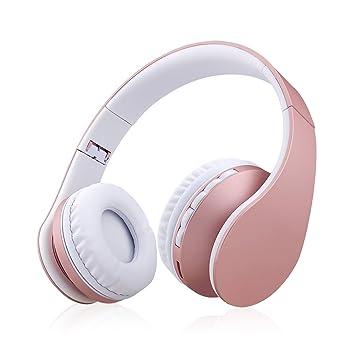 Xunpuls - Auriculares de diadema con Bluetooth, inalámbricos, plegables, estéreo de alta fidelidad