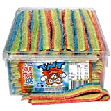 TNT Rainbow Sour Straps 200 Count 1.4kg Bulk Sugar Coated Belts For Kids Birthday Party Hens Party Baby Shower Halloween…