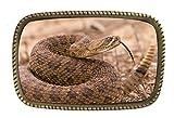 Arizona Diamondback Rattlesnake Brass Belt Buckle Made In USA