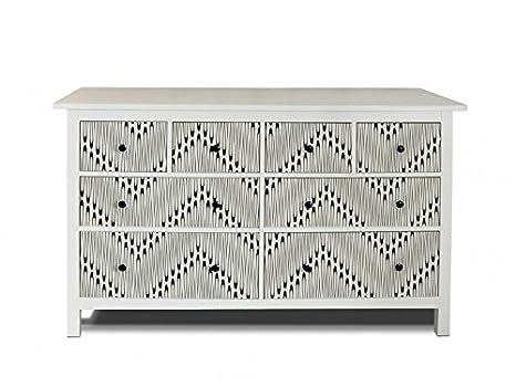 yourdea Muebles de pantalla para cómoda de Ikea hemnes 8 cajones/Muebles de pegatinas para diseñar Incluso/Ojal - pegatinas adhesivas con ojal Diseño: ...
