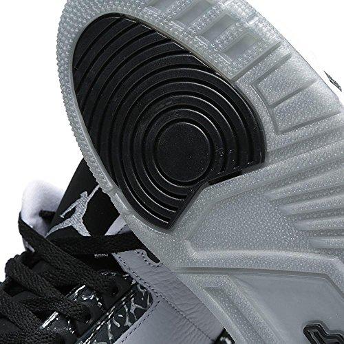 Nike Air Jordan 3 Retro Männer Hallo Top Basketball Trainer 136064 Turnschuhe Schuhe Wolf Grau / Metallic Silber / Schwarz / Weiß