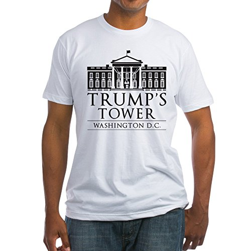 CafePress Trump's Tower - Fitted T-Shirt, Vintage Fit Soft Cotton Tee