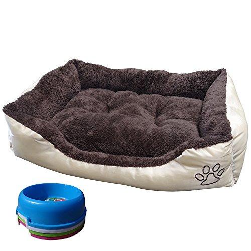 Cuccia per animali lavabile con cuscino di peluche per cani gatti e animali domestici - Cuccia per cani interno ...