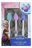 Kids Disney Frozen Starter Bakeware, 4-Pc. Cupcake Set with Supplies: Baking Tray, Spatula, Spoon, Baking Brush