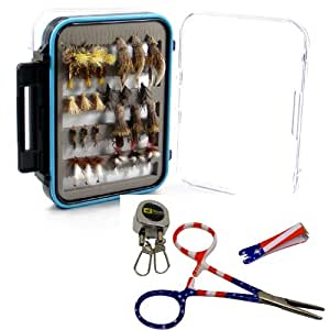 Deluxe trout fly assortment 3 dozen flies w for Fly fishing subscription box