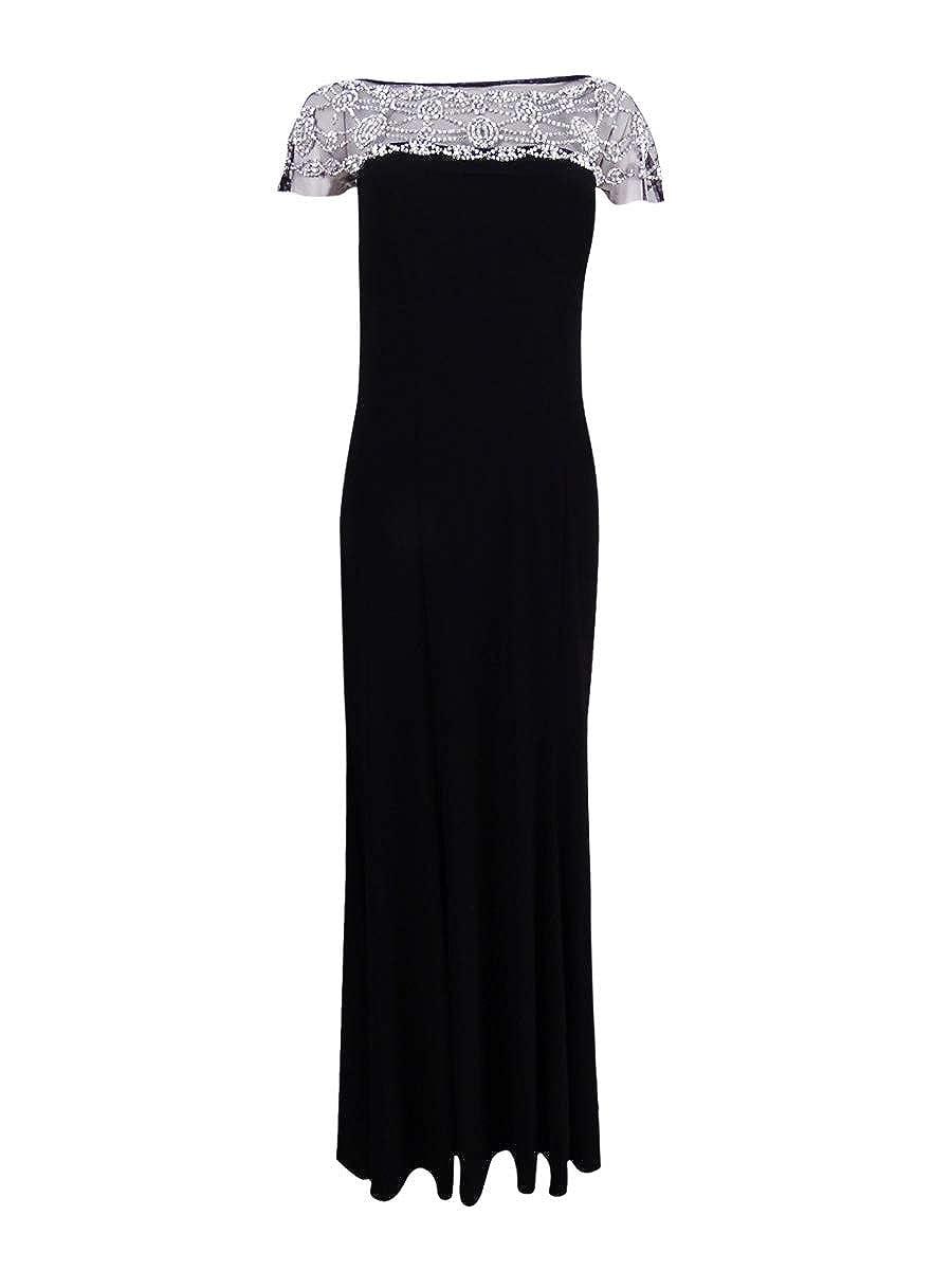 R&M Richards - Vestido de Noche para Mujer con Cuentas y Corbata ...