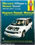 H64200 Haynes Mercury Villager Nissan Quest 1993-2001 Auto Repair Manual