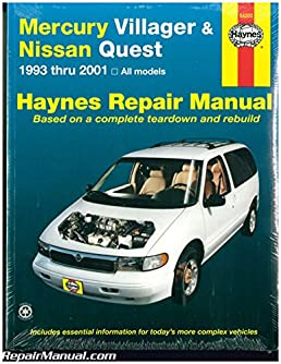 h64200 haynes mercury villager nissan quest 1993 2001 auto repair rh amazon com Haynes Repair Manual 1991 Honda Civic Haynes Repair Manuals Online