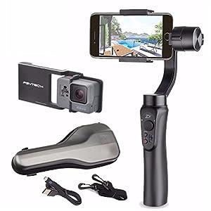 Zhiyun Smooth Q w/ Plate, 3-Axis Handheld Gimbal Stabilizer for Smartphone & Gopro Hero 6 / 5 / 4 / 3 & Xiaomi Yi action camera Wireless Control Vertical Shooting Panorama Mode (Zhiyun Smooth-Q Black)
