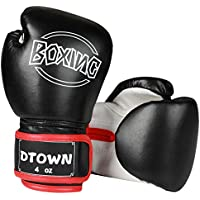 Dtown Kids Boxing Gloves for Children Age 3 to 7 Years, 4oz PU Leather