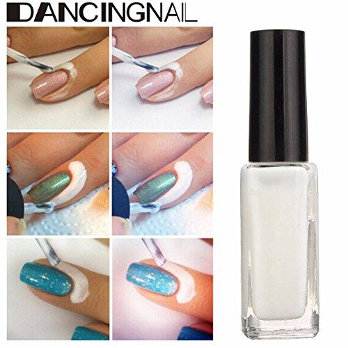 Dancing Nail Nagellack Weiß Peel Off Liquid Flüssig Base Coat Nagelkunst Palisade Creme 10ml
