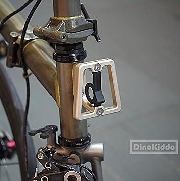 Dorado mate CNC Front Carrier bloque para Brompton Bicicleta Plegable – Dino Kiddo