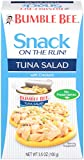 Bumble Bee Snack on the Run Tuna Salad with Crackers, 3.5 Ounce (Pack of 12)