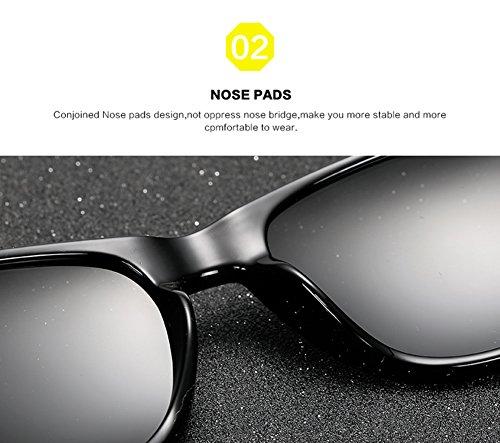 De B Polarizadas Gafas Protección Sol Aviator UV Mujer Hombre para C para 400 q774dEw