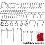 MUTOCAR Peg Hook Organization 50Pcs Peg Board Hook Set