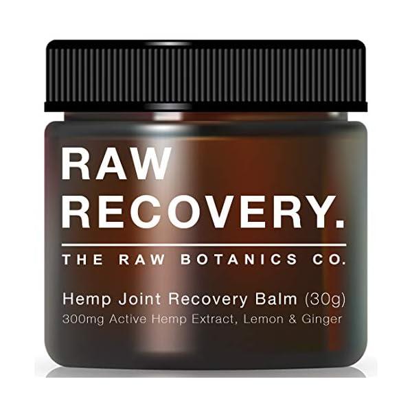 The Raw Botanics Co. Hemp Joint Recovery Balm. 300mg of Active Hemp Extract