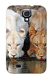 New WWprqQe3474aGMLI Lionesses Drinking From The River Skin Case Cover Shatterproof Case For Galaxy S4