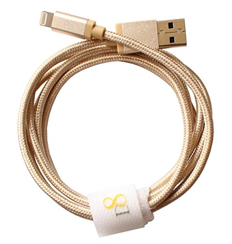 D8 Apple MFI Certified USB 2.0 Lightning Nylon Braided High Strength Super Traction Data 8 Pin High Speed Cable 150cm for I Phone 6 I Phone5 I Phone 6 Plus I Phone 5 s I phone 5 c I Pad I Pad Air 4 I Pad iPod I Phone mini nano 7 iPod touch local 5 Color Gold