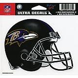 "NFL Baltimore Ravens 4.5"" x 6"" Team Helmet Ultra Decal Cling"