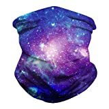 Amstt Unisex Seamless Neck Gaiter Face Scarf Mask-Dust for Outdoors Breathable Fishing Hiking Running Cycling (Cool Purple Starry Sky)