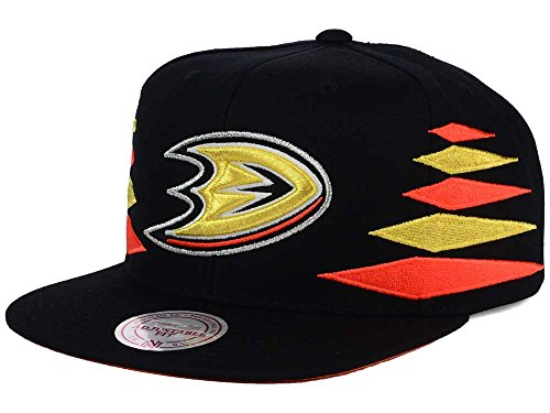 Mitchell & Ness Anaheim Ducks Solid Diamond Snapback Hat (Mitchell Ness Diamond)