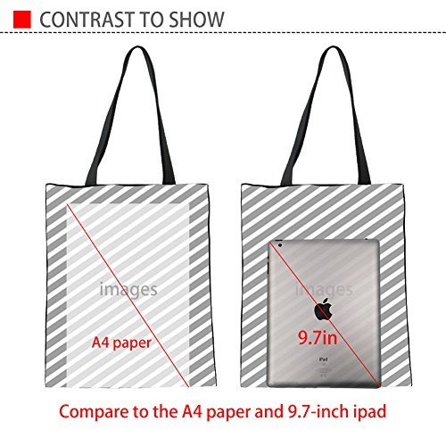 Womens 2 Shopping Girls CHAQLIN Storage blue Groceries Bag Women Shopper for Canvas Tote Shoulder rrCzwqO