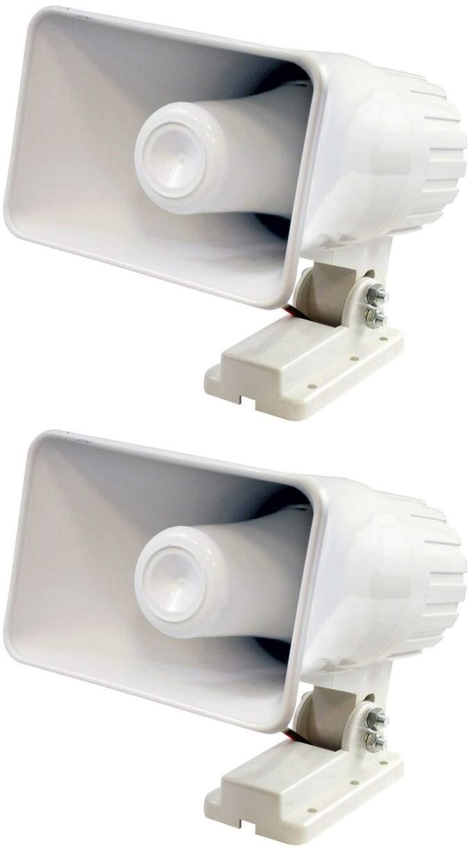 "2) Pyle PHSP4 6"" 50 Watt Indoor/Outdoor Waterproof Home PA Horn Speaker - White 51SgCM5qJGL"