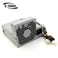 S-Union New 240W Power supply for HP Elite 8000 8100 8200 SFF Pro 6000 6005 6200 Compatible Part number 611482-001 508151-001 613763-001 611481-001 613762-001 503375-001
