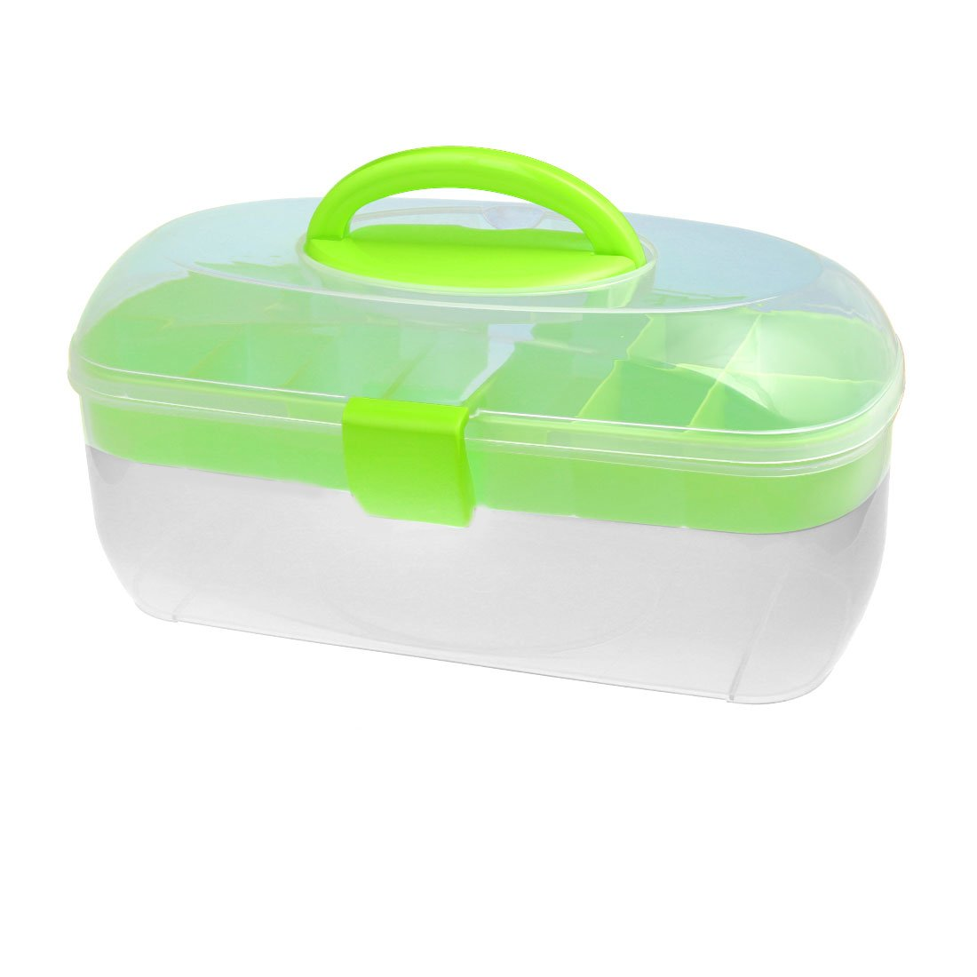 uxcell Household Oval-Shaped Empty Nail Art Makeup Cosmetic Tool Container Storage Box