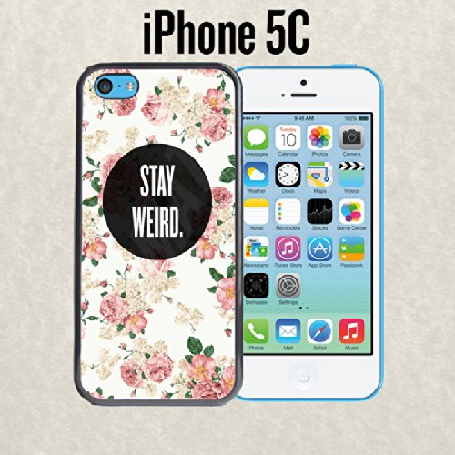 amazon com stay weird floral fashionable trendy soft rubber slim