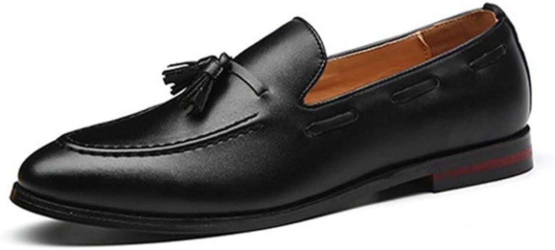 Zapatos de Negocios para Hombre Mocasines Formales con borlas ...