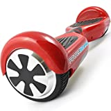 Powerboard 15004-Red Hoverboard 2 Wheel Self Balancing Scooter with LED Lights and Hands Free Battery Powered Electric Motor