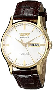 Tissot White Dial Brown Leather Men's Watch