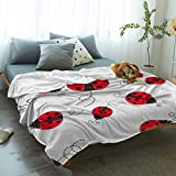 FortuneHouse8 Flannel Fleece Blanket Christmas Red