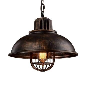 NIUYAO Lampe Suspension Lustre Abat-jour en Métal avec Grills Loft Style  Chandelier Industriel Vintage 6dbcc1908552