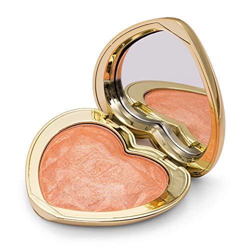 Heart Shaped Blush Palette, Natural Naked Blush Makeup with Mirror for Highlighter, Eye shadow, Contour, Blusher by SEILANC, Peach Pink ()