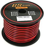 GS Power's True 16 Gauge (American Wire Ga) 100 feet 99.9% OFC stranded oxygen free copper, Red / Black 2 Conductor Bonded Zip Cord Power / Speaker Cable for Car Audio, Home Theater, LED strip Light