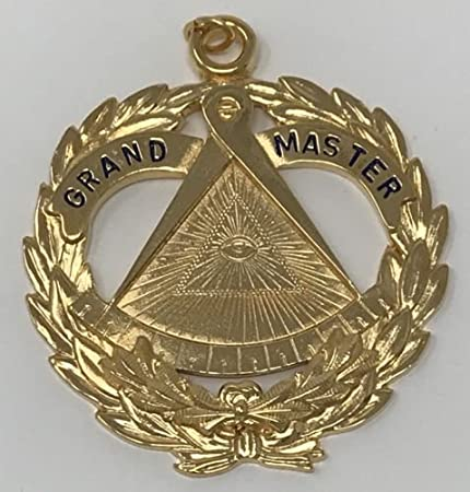 New Freemason Grand Historian Collar Jewel in Gold Tone