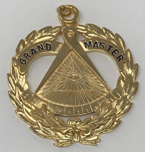 Freemason Grand Master Collar Jewel in Gold Tone