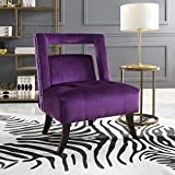 Cheap Salvador Plum Velvet Accent Chair – Armless Slipper | Button Tufted | Nailhead | Inspired Home